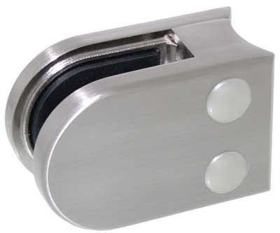 Glasklemme Modell 05 für Rohr-Ø 48.3mm, Zinkdruckguss Edelstahleffekt