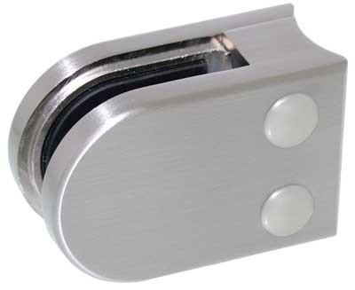 Glasklemme Modell 02 für Rohr-Ø 48.3mm, Zinkdruckguss Edelstahleffekt