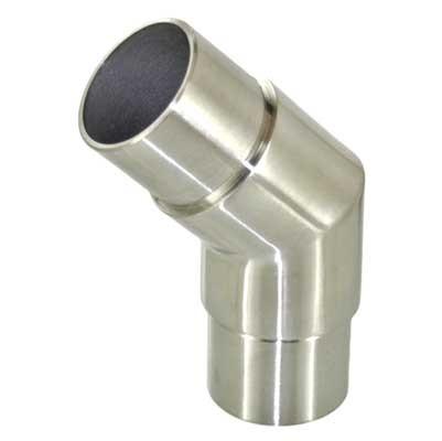 Rohrverbinder 45° eckig, für Rohr 42.4 x 2.0mm
