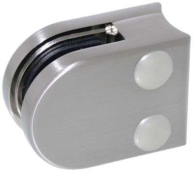 Glasklemme Modell 00 für Rohr-Ø 33.7mm, Zinkdruckguss Edelstahleffekt