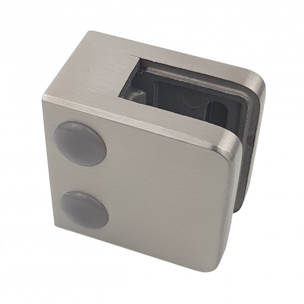 Glasklemme Modell 01 - Anschluss für Vierkantrohr
