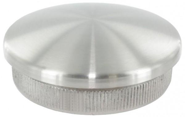 Endkappe gewölbt, Guss mit Rändel, für Rohr 42.4 x 2.0mm