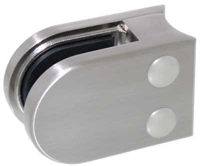 Glasklemme Modell 05 für Rohr-Ø 42.4mm, Zinkdruckguss Edelstahleffekt