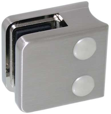 Glasklemme Modell 01 für Rohr-Ø 42.4mm, Zinkdruckguss Edelstahleffekt