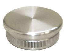 Endkappe flach, Guss mit Rändel, für Rohr 33.7 x 2.0mm