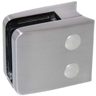 Glasklemme Modell 06 für Rohr-Ø 42.4mm, Zinkdruckguss Edelstahleffekt